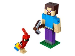 Lego Minecraft Steve Big Fig With Parrot-0