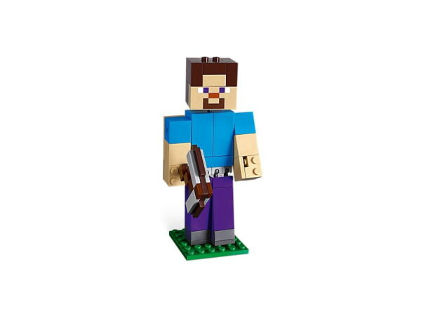 Lego Minecraft Steve Big Fig With Parrot
