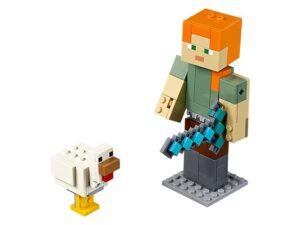 Lego Minecraft Alex Big Fig With Chicken-0