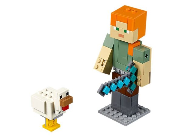 Lego Minecraft Alex Big Fig With Chicken-0