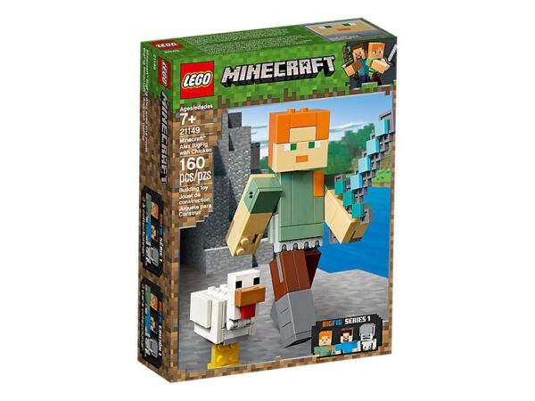 Lego Minecraft Alex Big Fig With Chicken-1757