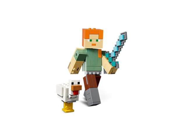Lego Minecraft Alex Big Fig With Chicken-1758