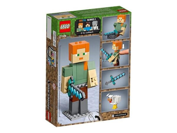 Lego Minecraft Alex Big Fig With Chicken-1760