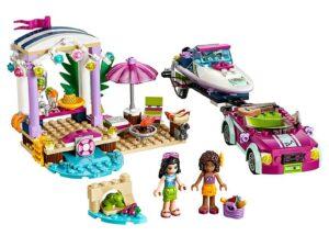 Lego Andrea's Speedboat Transporter-0