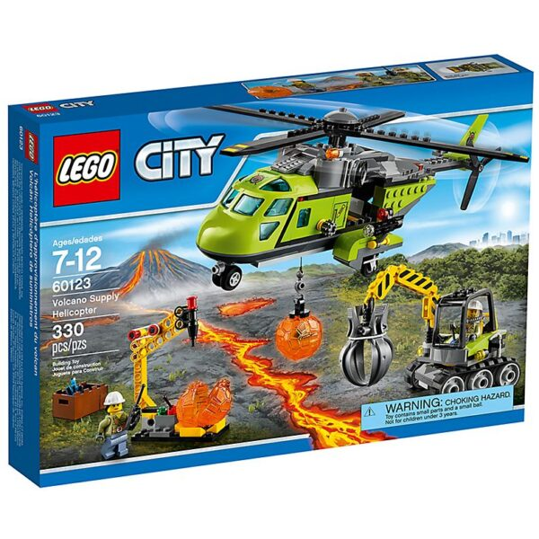 Lego Volcano Supply Helicopter