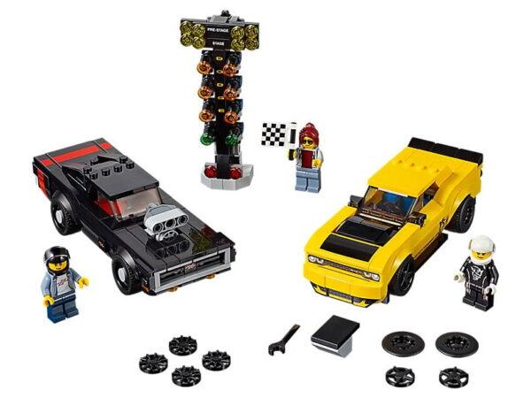 Lego 2018 Dodge Challenger SRT Demon and 1970 Dodge Charger R/T-0