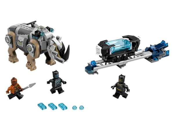 Lego Rhino Face-Off by the Mine-3426