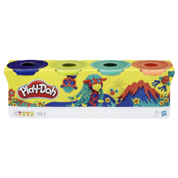Playdoh 4 Pack Classic Colours-3818