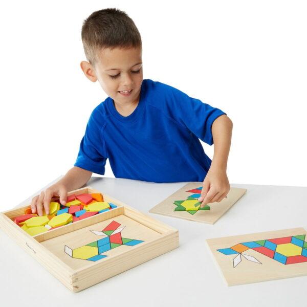 Melissa and Doug Pattern Blocks & Boards-0