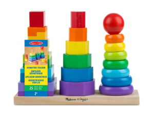 Melissa and Doug Geometric Stacker-0