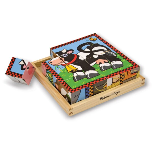 Melissa and Doug Farm Cube Puzzle-4382