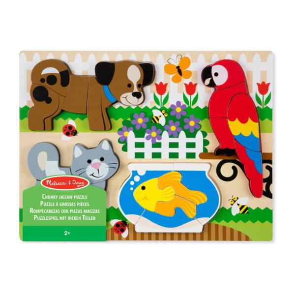 Melissa and Doug Chunky Jigsaw Puzzle Pets-0