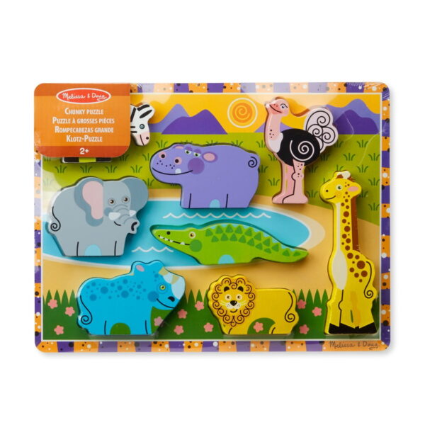 Melissa and Doug Chunky Puzzle Safari-0