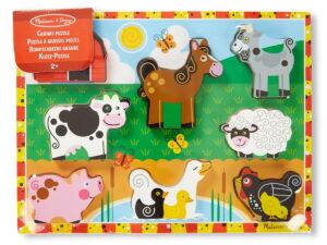 Melissa and Doug Chunky Jigsaw Puzzle Farm-0