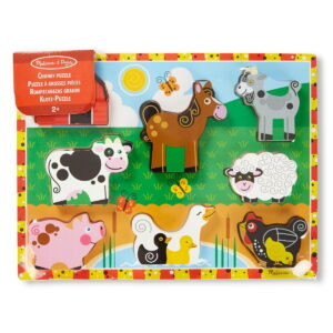 Melissa and Doug Farm Chunky Puzzle-0