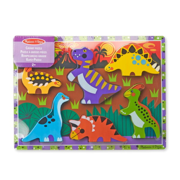Melissa and Doug Dinosaurs Chunky Puzzle-0