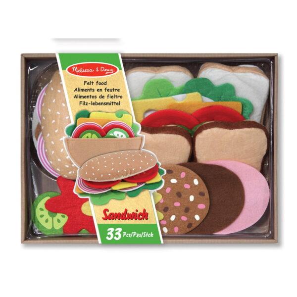 Melissa and Doug Dinosaur Felt Food Sandwich Set-0