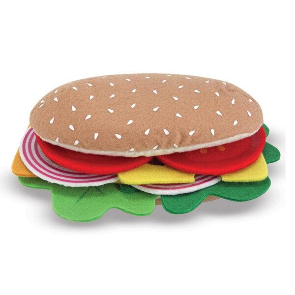 Melissa and Doug Dinosaur Felt Food Sandwich Set-4564
