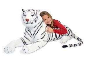 Melissa and Doug White Tiger Plush -0