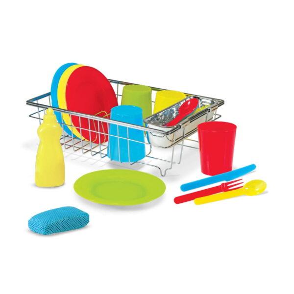Melissa and Doug Wash & Dry Dish Set-0