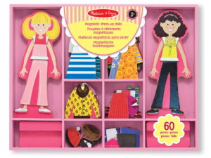 Melissa and Doug Abby & Emma Magnet Dress Up-0