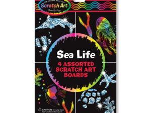Melissa and Doug Scratch Art Sheets Sea Life-0