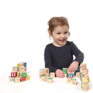 Melissa and Doug 100 Wood Blocks Set-0
