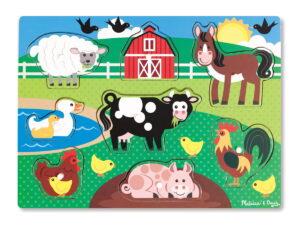 Melissa and Doug Farm Friends Peg Puzzle-0