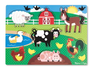 Melissa and Doug Wooden Peg Puzzle Farm-0