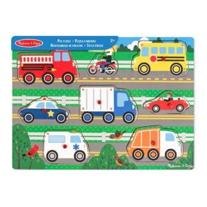 Melissa and Doug Wooden Peg Puzzle Vehicle-0