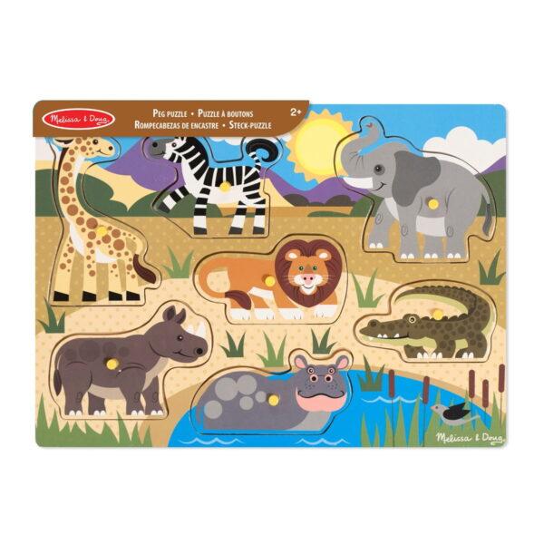 Melissa and Doug Large Peg Puzzle Safari-0