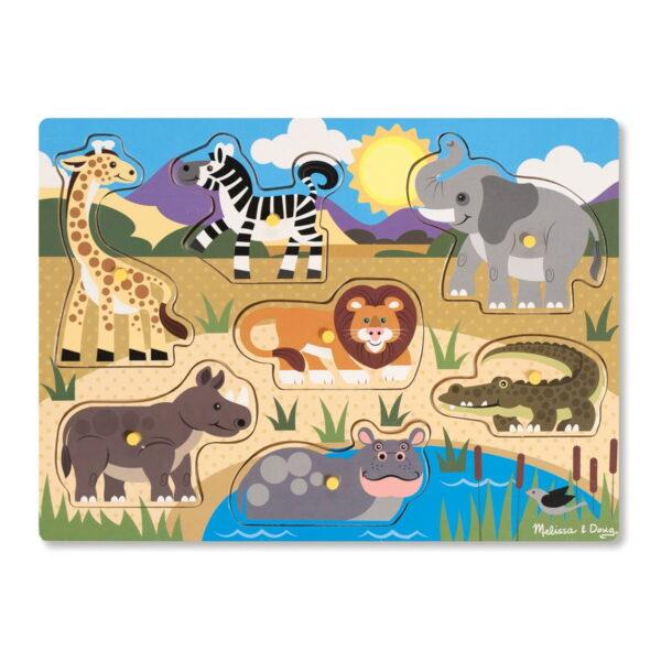 Melissa and Doug Large Peg Puzzle Safari-4508