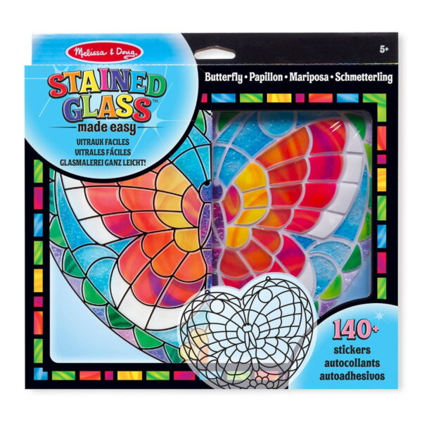 Melissa and Doug Stained Glass Butterfly-0
