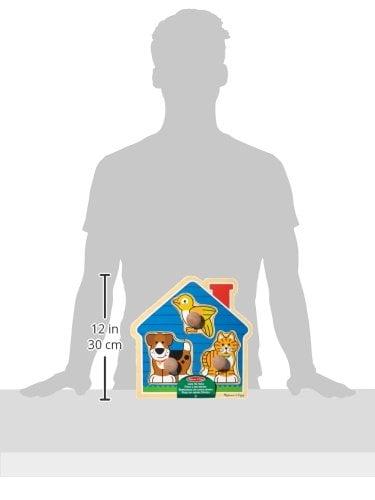 Melissa and Doug House Pets Lrg Peg Puzzle-4417