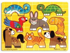 Melissa and Doug Wooden Peg Puzzle Pets-0