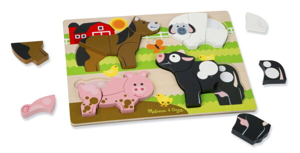 Melissa and Doug Chunky Jigsaw Puzzle Farm-4402