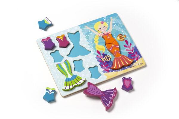 Melissa and Doug Mermaid Dress Up Chunky Puzzle-4832