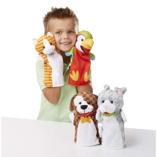 Melissa and Doug Playful Pets Animal Puppets-4873