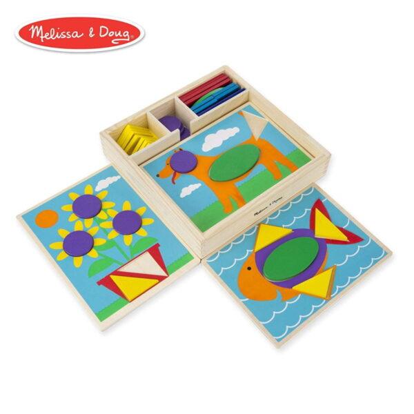 Melissa and Doug Beginner Pattern Blocks-0