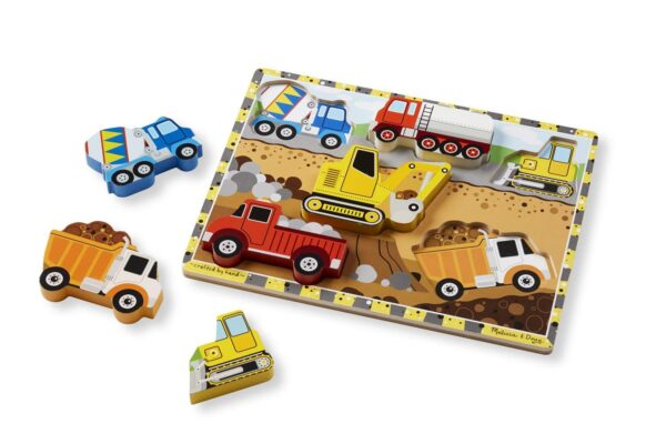 Melissa and Doug Construction Chunky Puzzle-4528