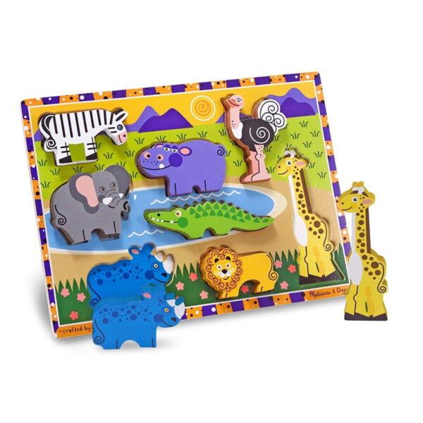 Melissa and Doug Chunky Puzzle Safari-4392