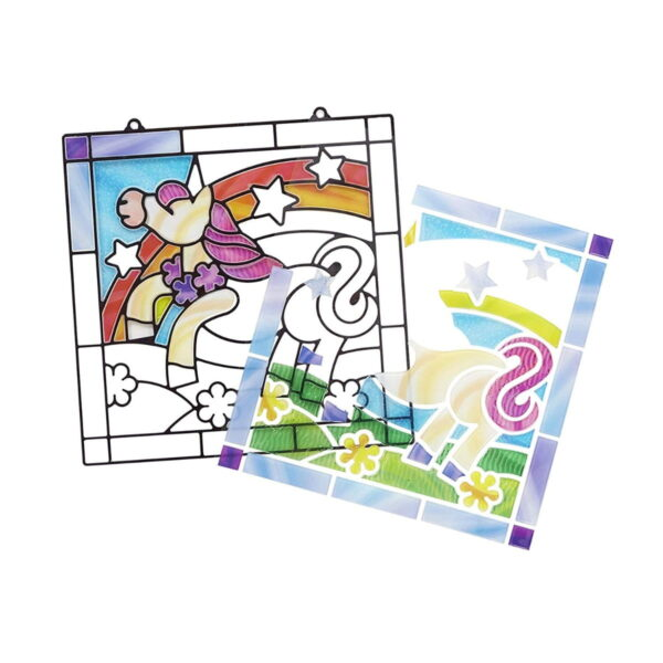 Melissa and Doug Stained Glass Unicorn-4917