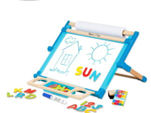 Melissa and Doug Wooden Double Sided Tabletop Easel-0