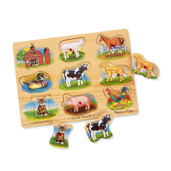 Melissa and Doug Classic Farm Sound Puzzle-4302