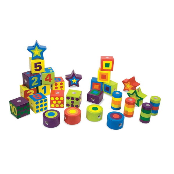 Melissa and Doug Lacing Beads in a Box-4541