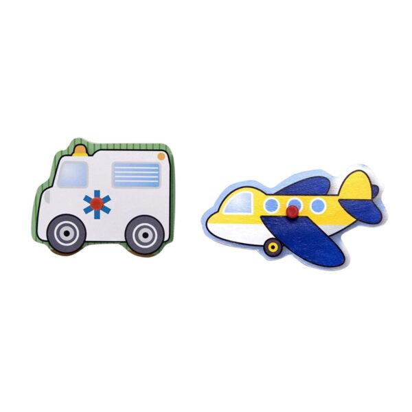 Melissa and Doug Wooden Peg Puzzle Vehicle-4838