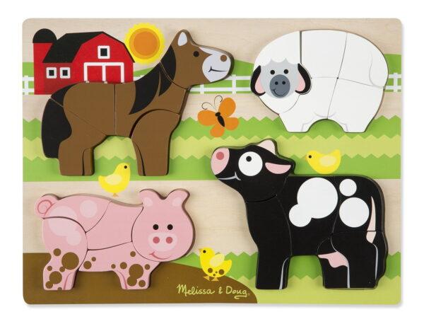 Melissa and Doug Chunky Jigsaw Puzzle Farm-4403