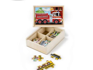 Melissa and doug Vehicles Puzzles in box -0