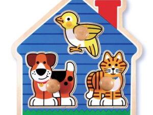 Melissa and Doug House Pets Lrg Peg Puzzle