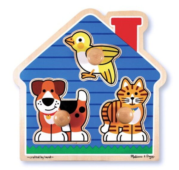 Melissa and Doug House Pets Lrg Peg Puzzle-0